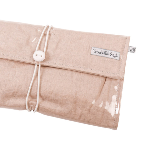NappyWallet Deluxe - Natural Linen