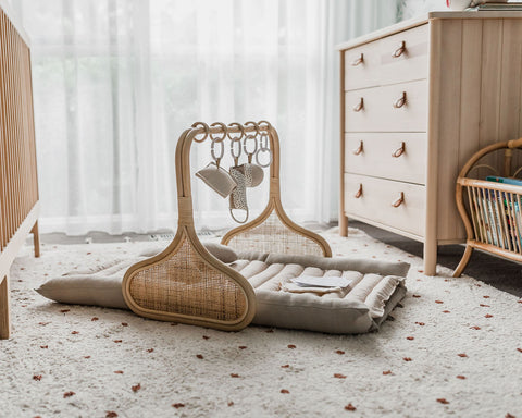 Rattan Play Gym Bundle - Natural/Cocoa