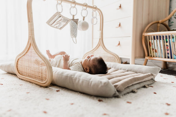 PRE ORDER APRIL: Rattan Play Gym Bundle - Natural/Cocoa
