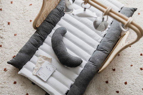 Rattan Play Gym Bundle - Charcoal/White