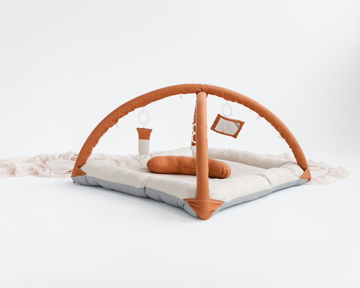 Activity Play Mat Bundle - Rust/Natural Linen