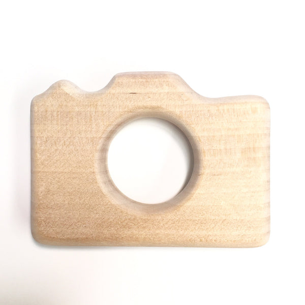 Wooden teething camera