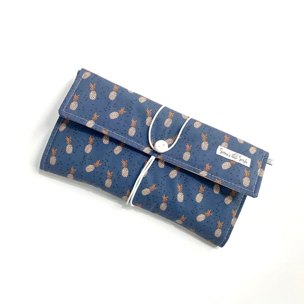 Nappy Wallets - Navy Pineapple