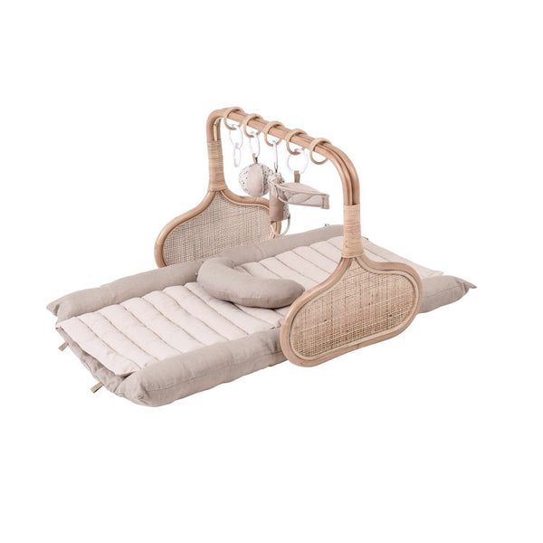 PRE ORDER November : Rattan Play Gym Bundle - Natural/Cocoa