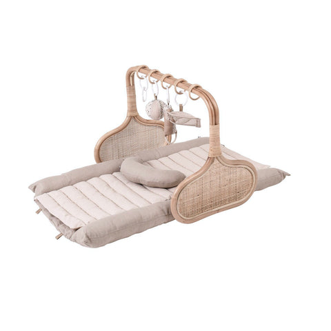 PRE ORDER for Christmas: Rattan Play Gym Bundle, early December- Natural/Cocoa