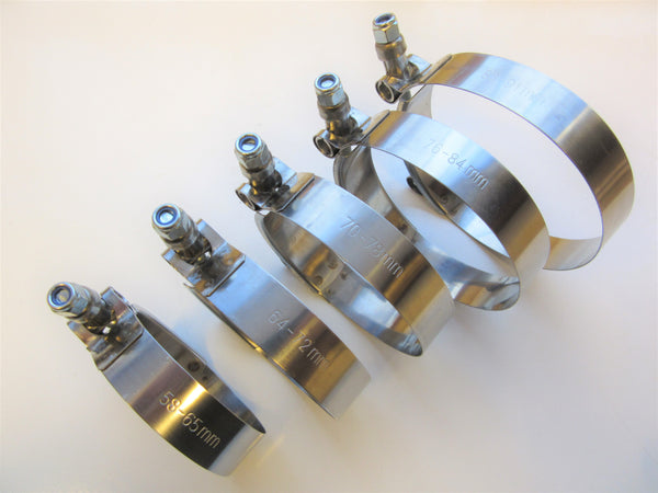 T-Bolt Hose Clamps - Stainless Steel (W2)