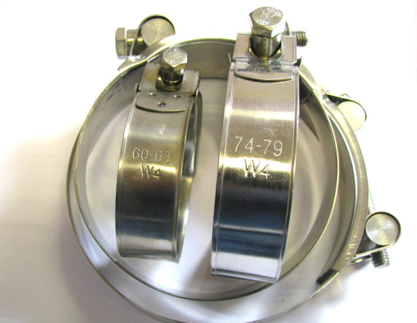 Heavy Duty Hose Clamps - Stainless Steel (W4)
