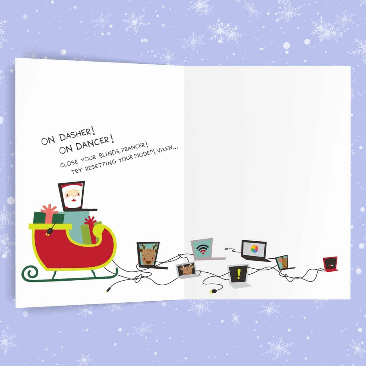 sock rocket holiday cards