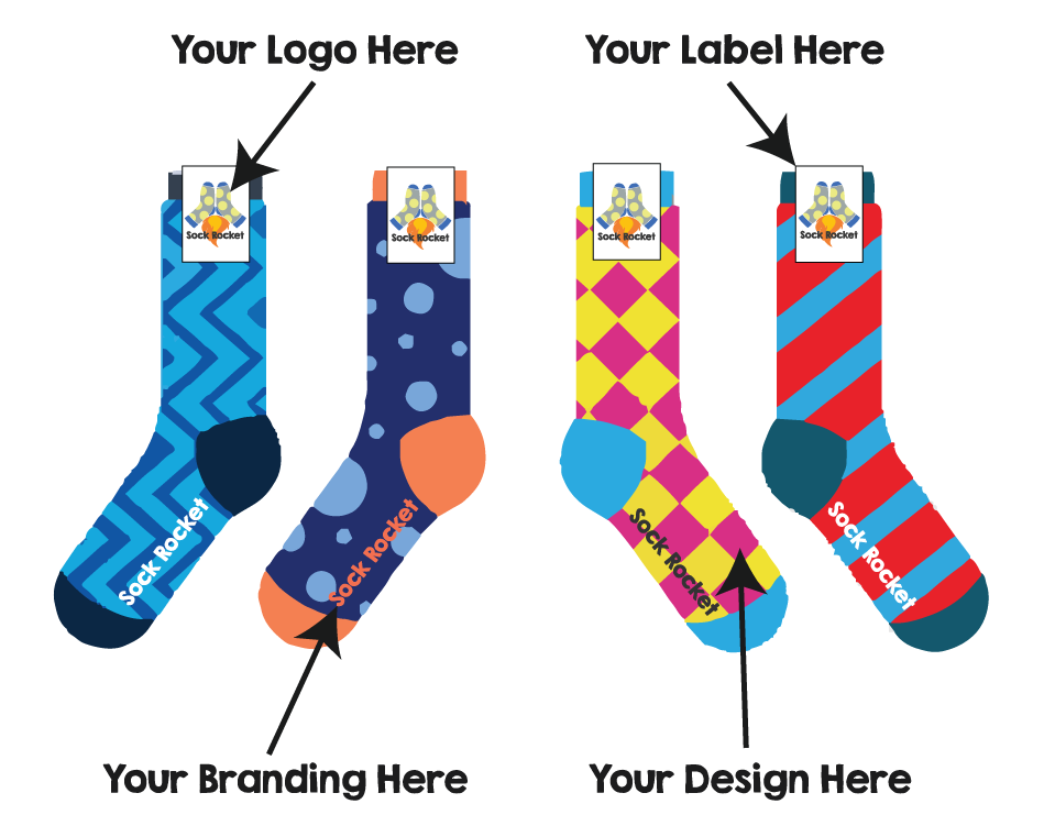 custom socks by sock rocket