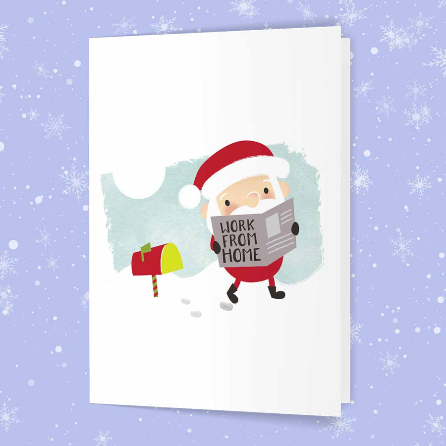 Santa Work From Home Card