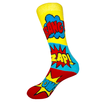Sock Rocket Comic Book Socks