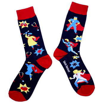 Sock Rocket Front Line Superhero Socks