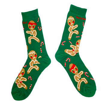 Kung-Fu Gingerbread Socks