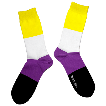 Sock Rocket Non Binary Pride Socks