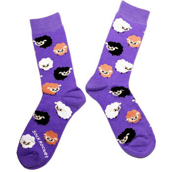 Sock Rocket Grumpy Sheep Socks