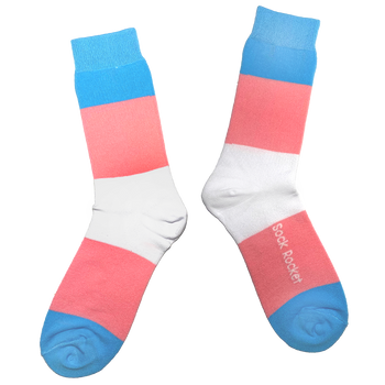 Sock Rocket Trans Pride Socks