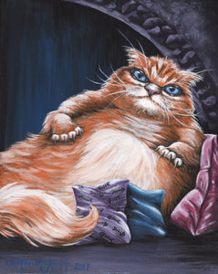 Paw Wars: Ragga the Hutt, Print on Wood