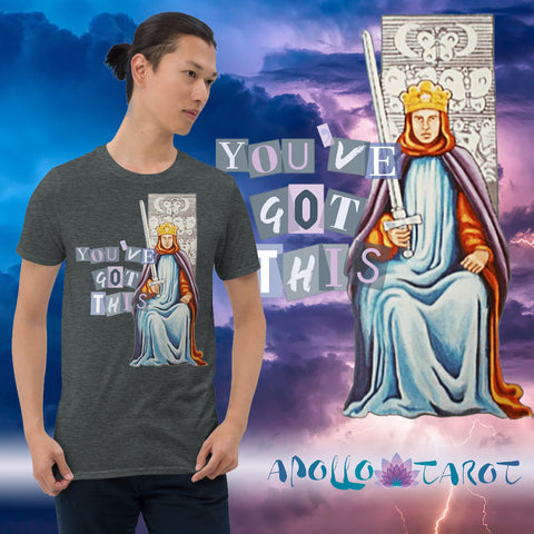Four Ways to Stay Woke when you get the Nine of Swords in a reading | Apollo Tarot | Link to King of Swords Unisex T-Shirt