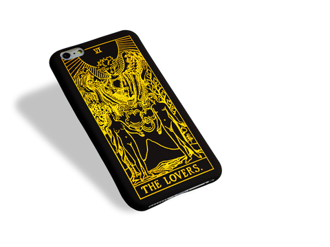 The Lovers Tarot Card Phone Case Advertisement in Apollo Tarot's blog post about the solar eclipse in Gemini 2021.