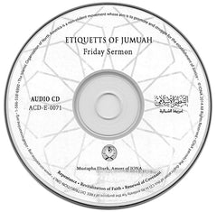 CD Etiquettes Of Jumuah Friday Sermons by Ameer Mustapah Elturk
