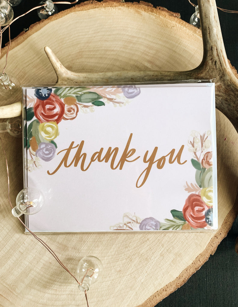 Blush Thank You Card Pack
