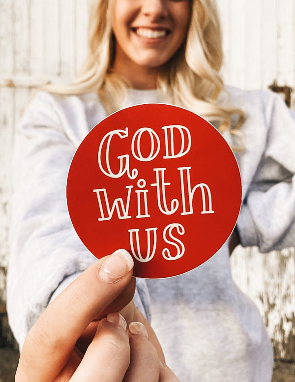 God With Us Sticker