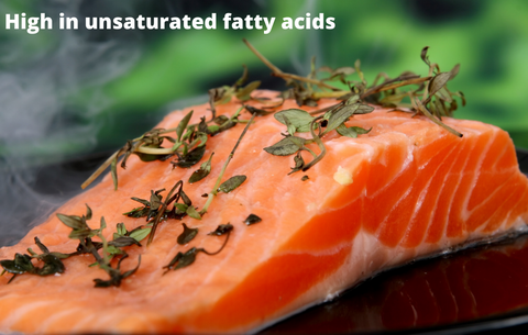 Salmon Unsaturated fatty acid, heart health, cholesterol reduction
