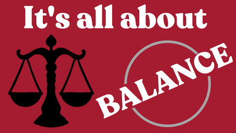 It's all about balance graphic