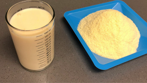 Bovine colostrum and spray-dried colostrum powder