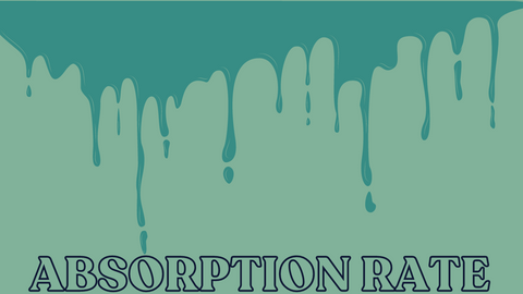 Absorption rate graphic in green