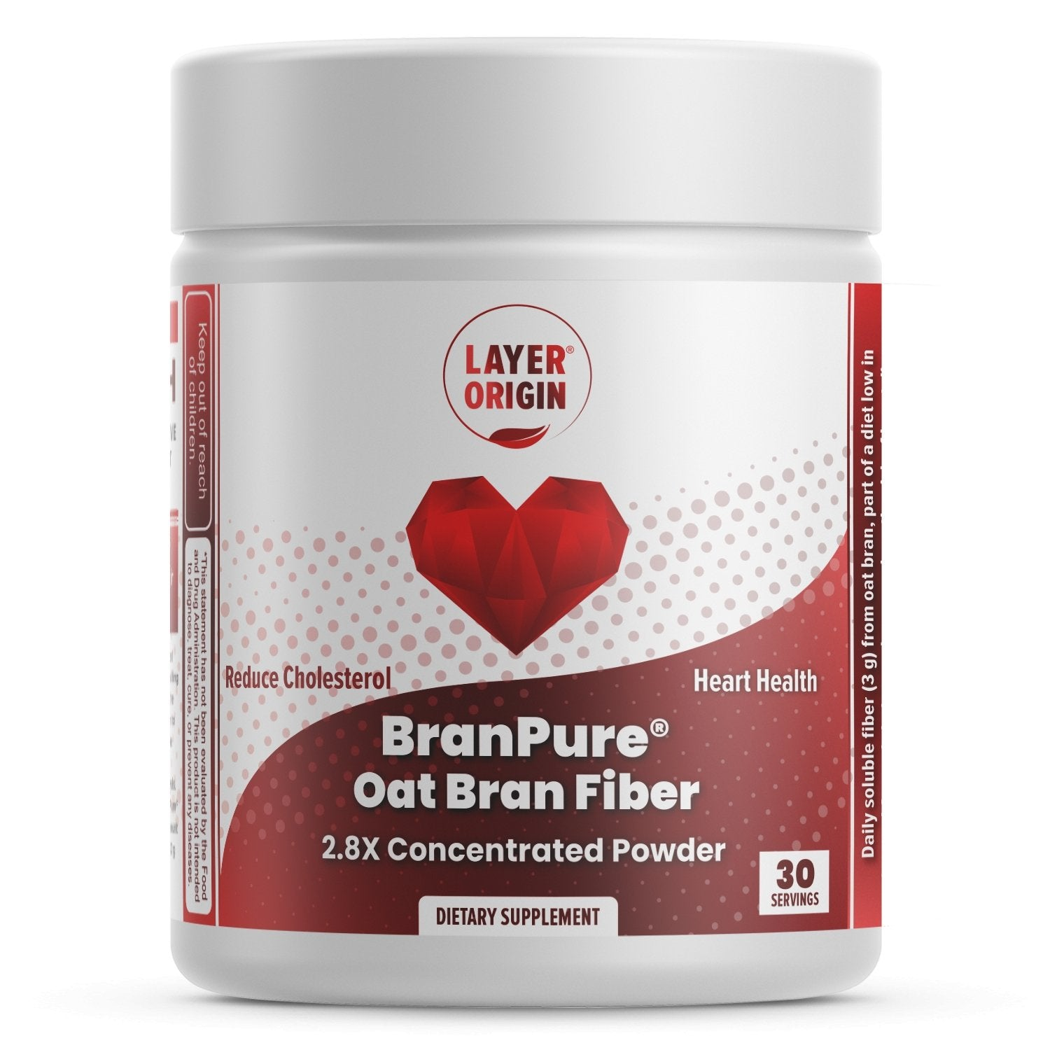 BranPure® Oat Bran Powder for Cholesterol and Heart Health - Layer Origin Nutrition