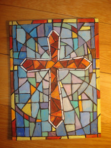 Cross Stain Glass Painting