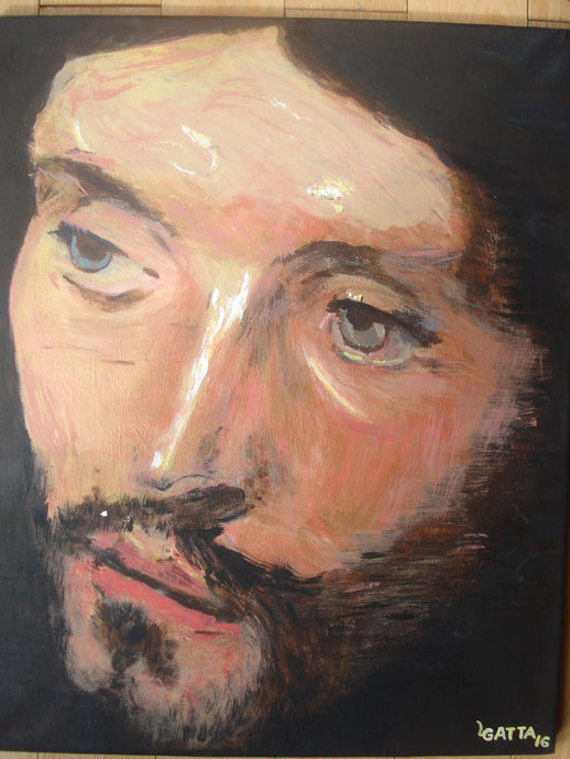Head of Christ 16 X 20 Acrylic- High Quality Canvas Print