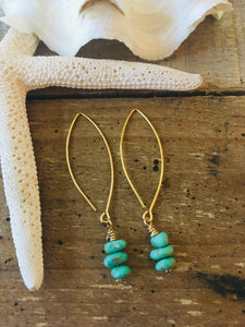 Mexican turquoise drop earrings