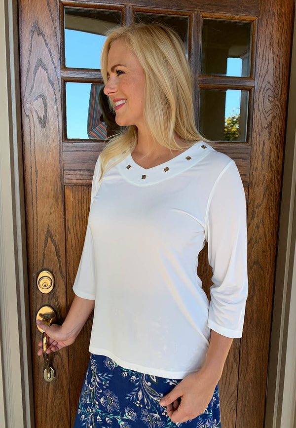 Three Quarter Sleeve Pullover