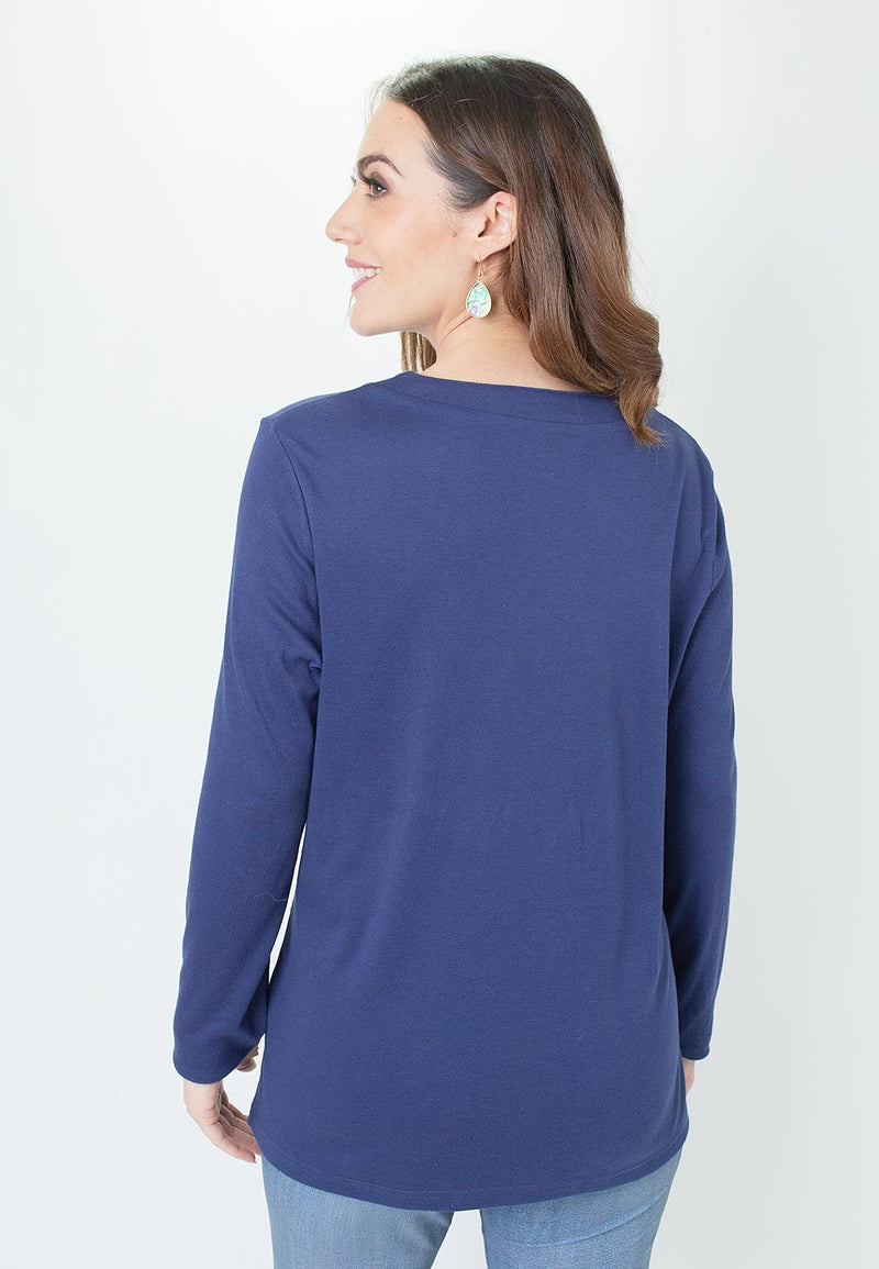 Interlock Grommet Neck Top