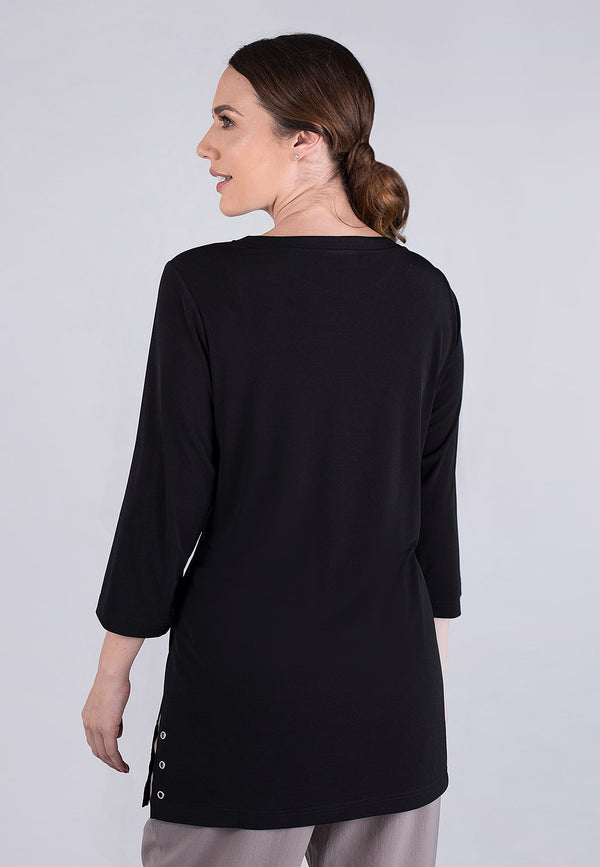 3/4 Sleeves jewel neck tunic