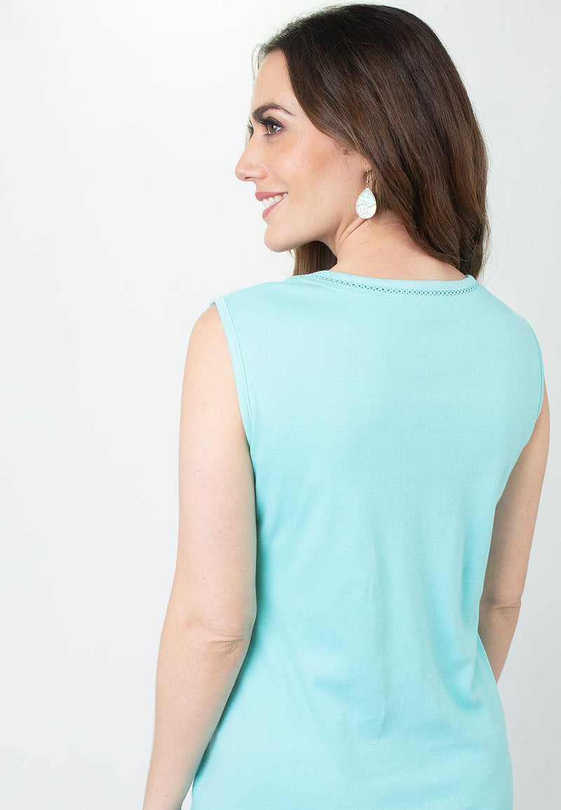 Diamond Stitch Interlock Tank Top