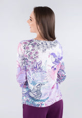 Abstract Bird Printed Top