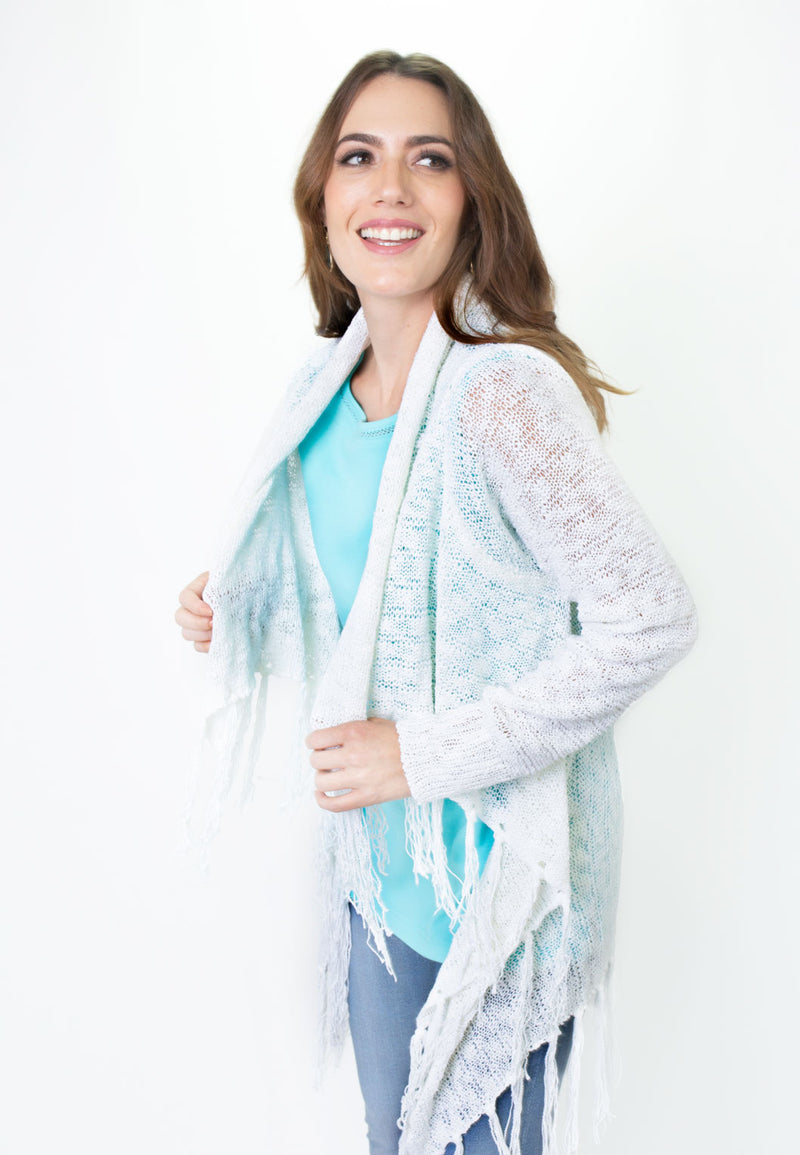 Long Line Cardigan with Fringe