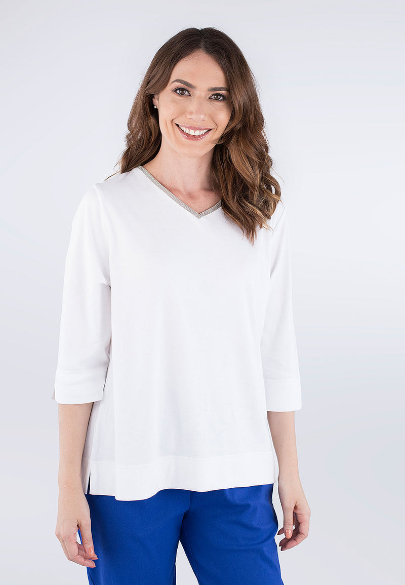 Interlock Sparkle Neck Top