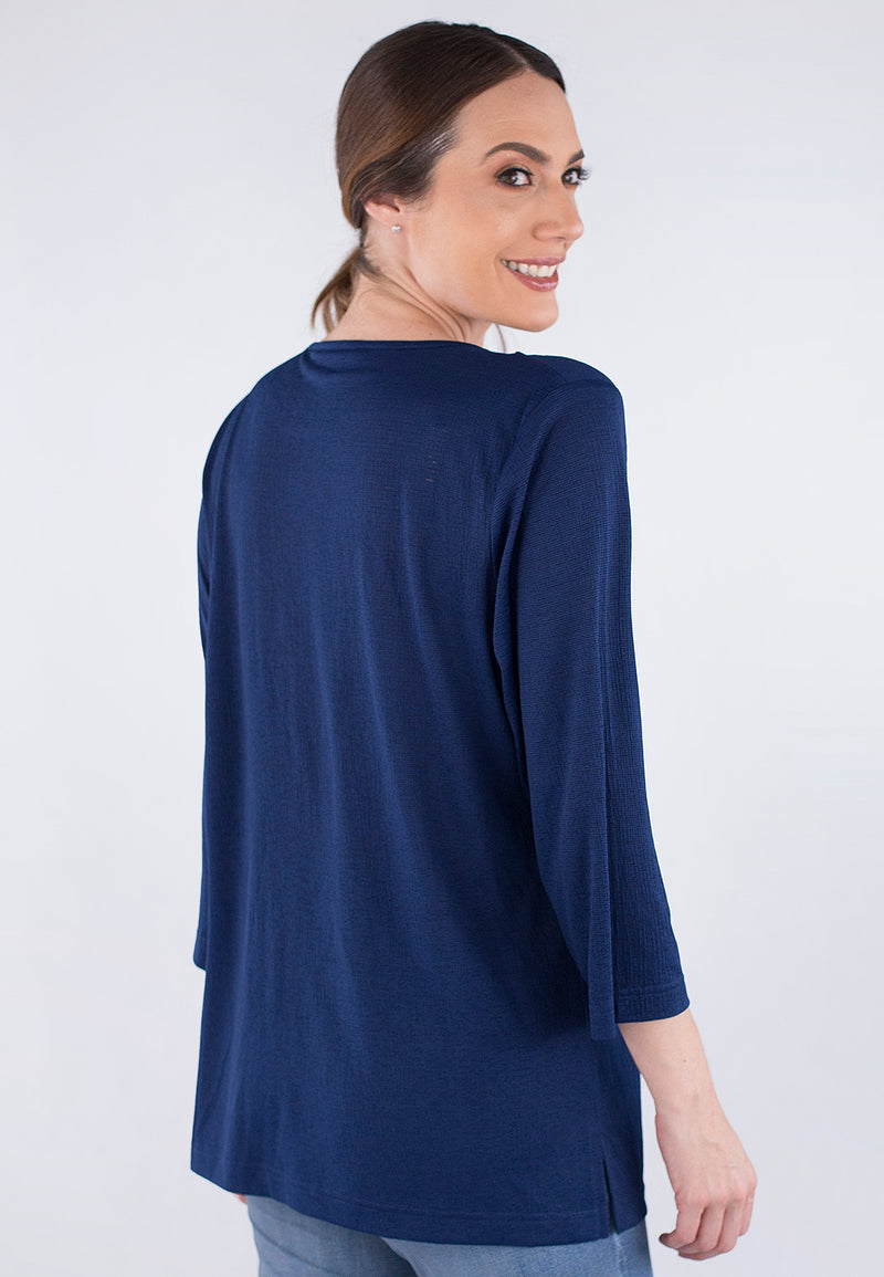 3/4 Sleeve Embroidery Blouse.