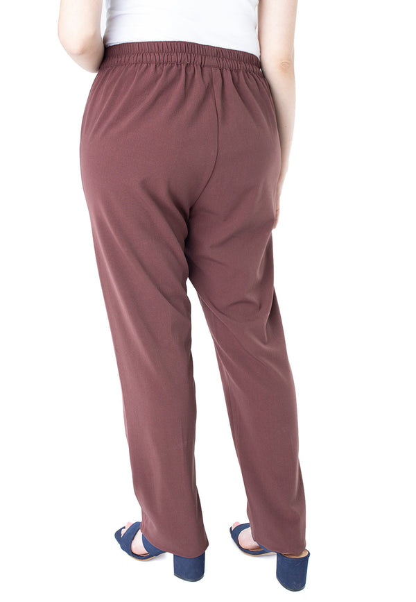 Pull On Pant in Chocolate