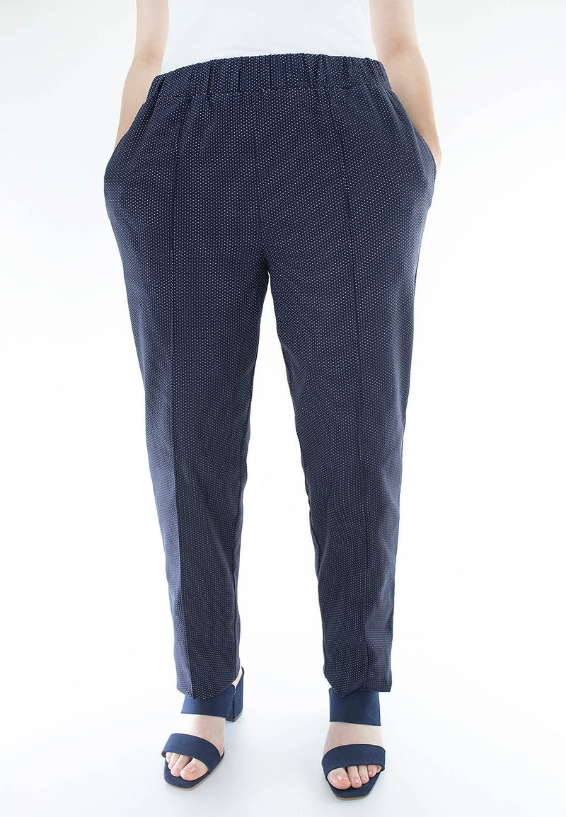 Pull On Pindot Stretch Pant