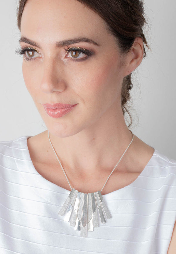 Geometric Multi-bar Necklace