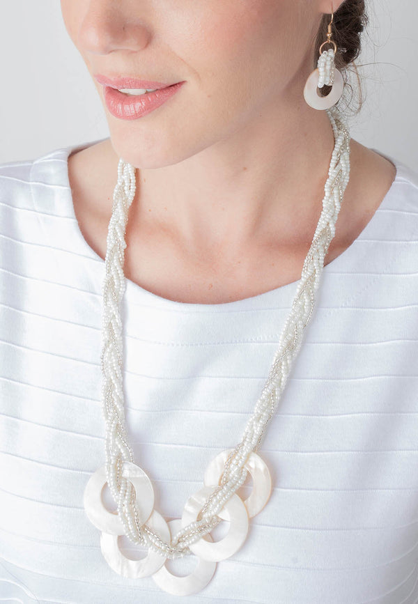 Braided Bead and Shell Set