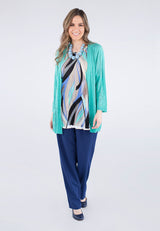 3/4 Sleeve Front Cardigan Petite