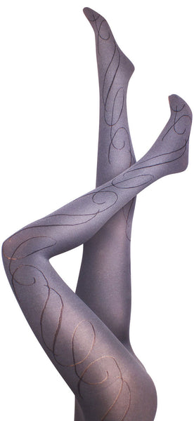 Dandelion Swirl Grey Tights