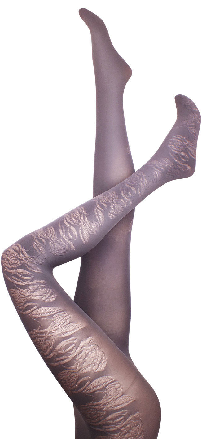 Peach Blossom Grey Tights