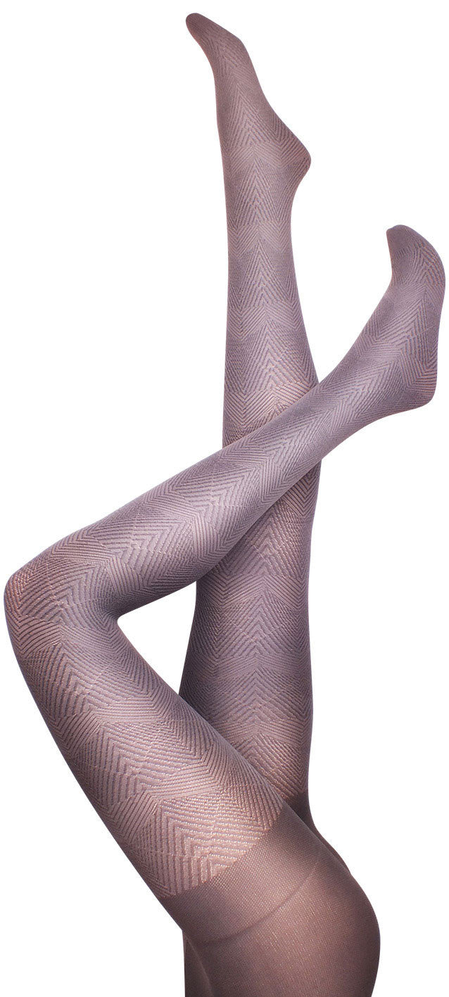 Herringbone Grey Tights